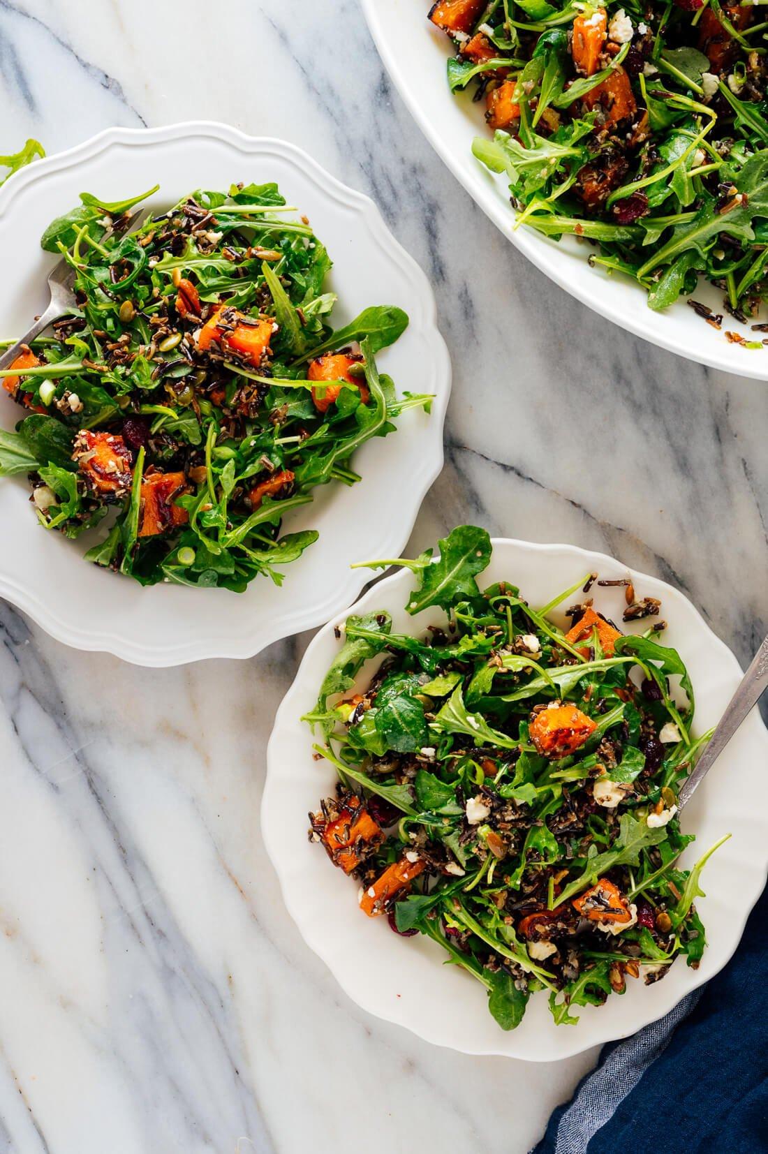 sweet potato, arugula, wild rice salad recipe-1