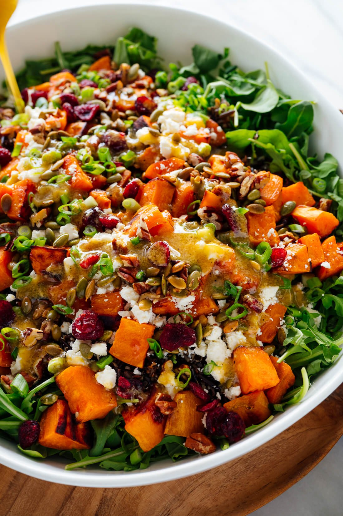 Hearty Sweet Potato, Arugula & Wild Rice Salad with Ginger