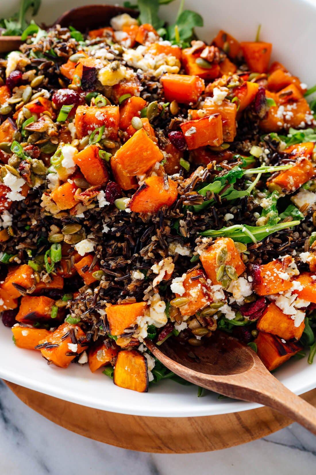 sweet potato, wild rice and arugula salad recipe
