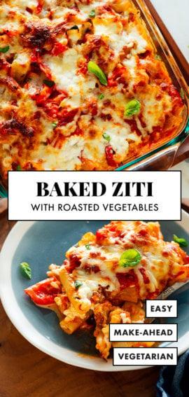 vegetarian baked ziti recipe