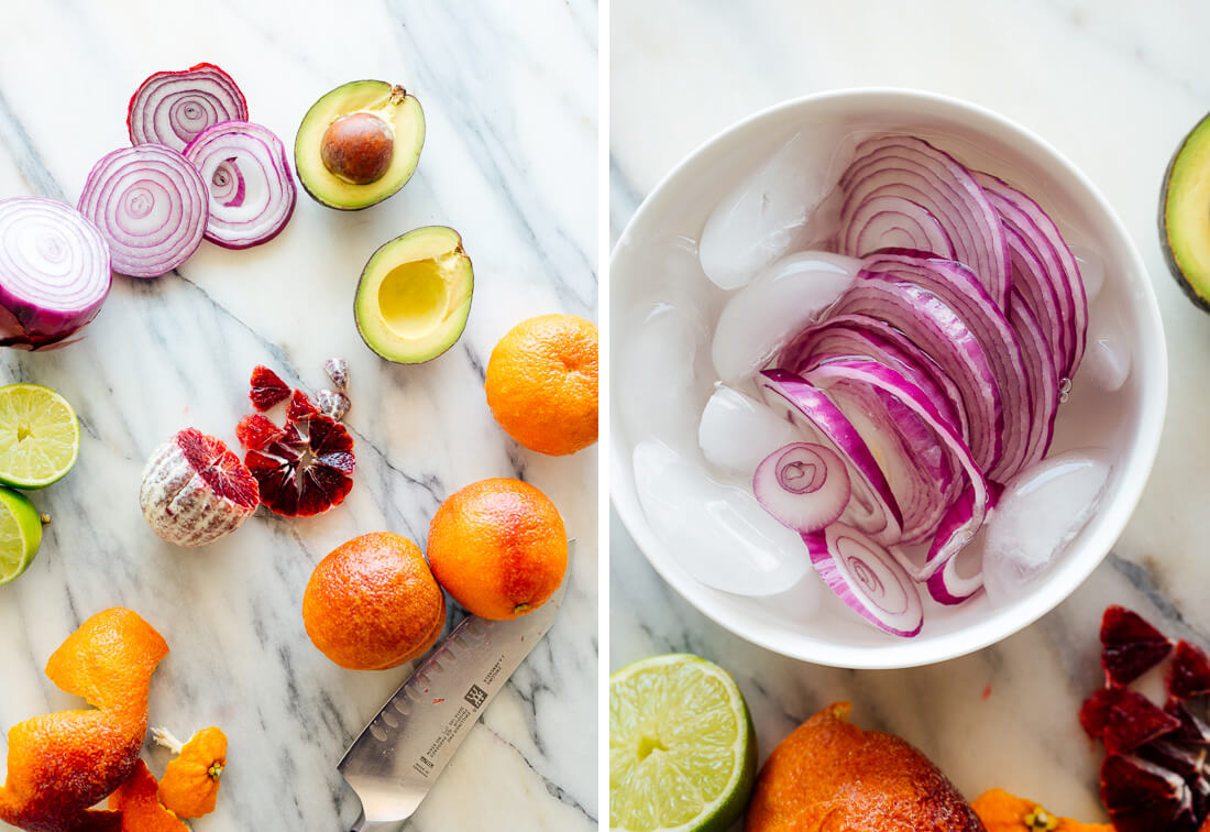 blood orange avocado salad ingredients