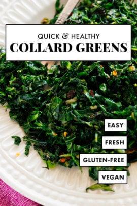 quick & healthy collard greens recipe