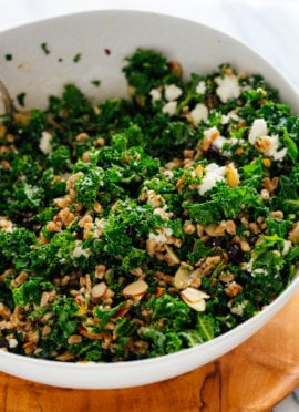 Farro and Kale Salad with Goat Cheese