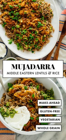 mujadarra (lentils and rice recipe)