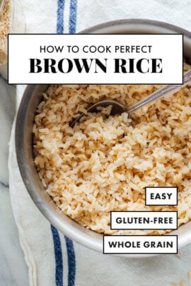 perfect brown rice recipe