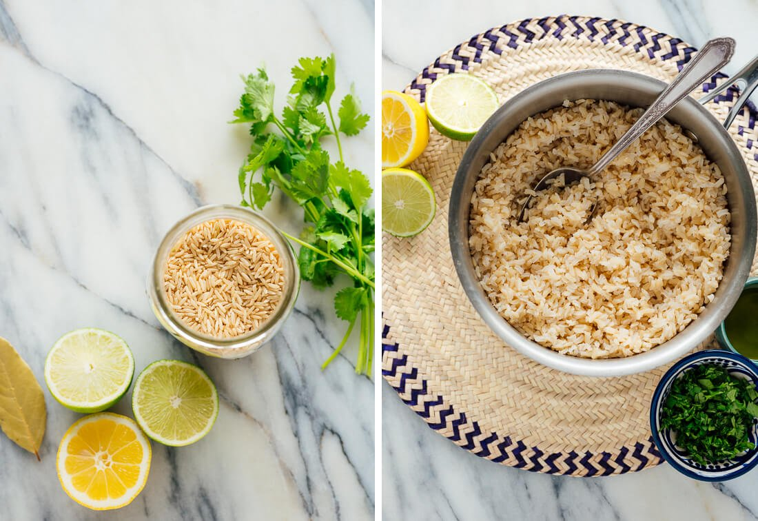cilantro-lime brown rice ingredients
