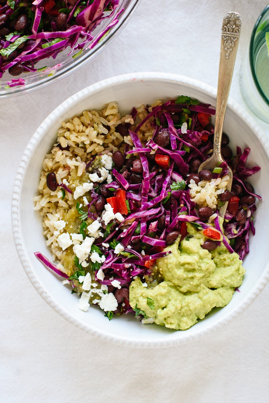 cilantro lime rice in burrito bowl