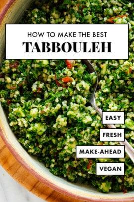 best tabbouleh recipe pin