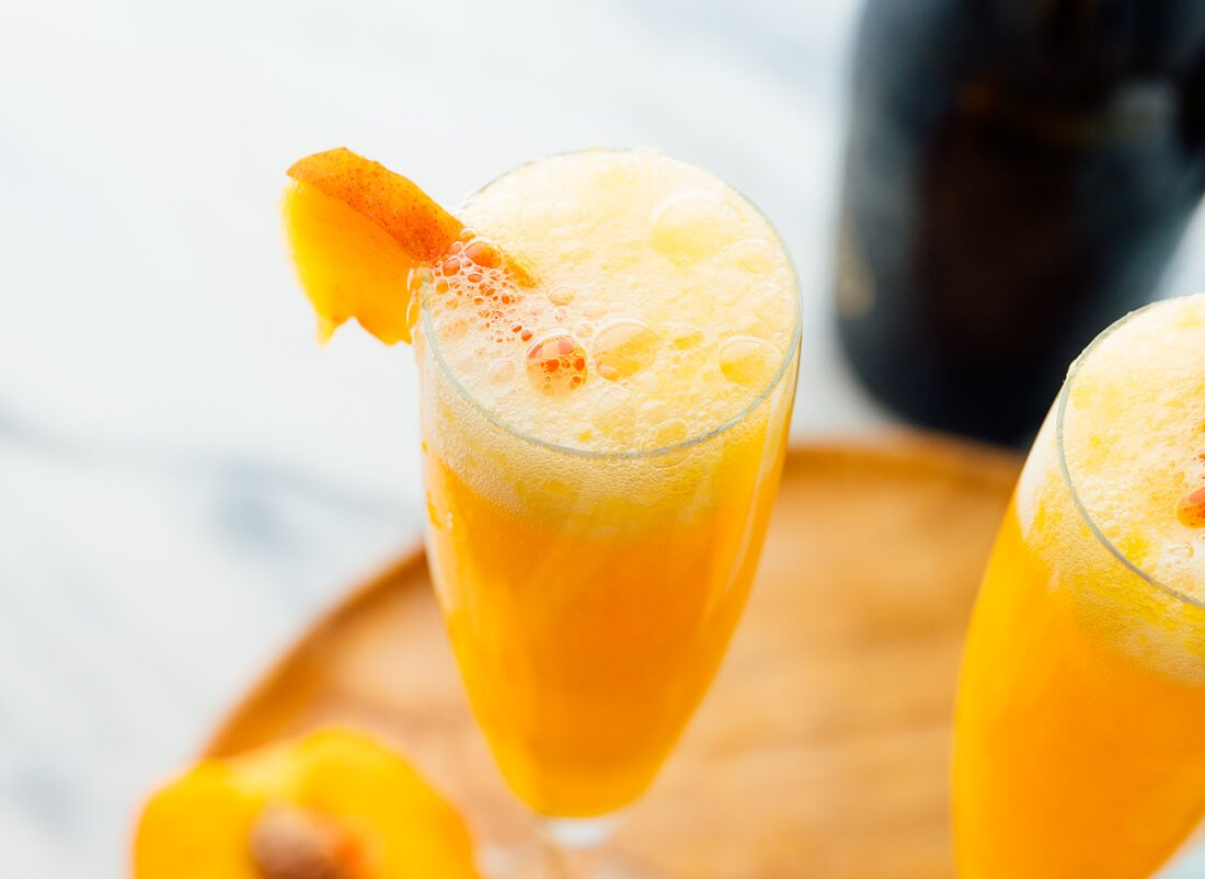 bubbly peach bellini