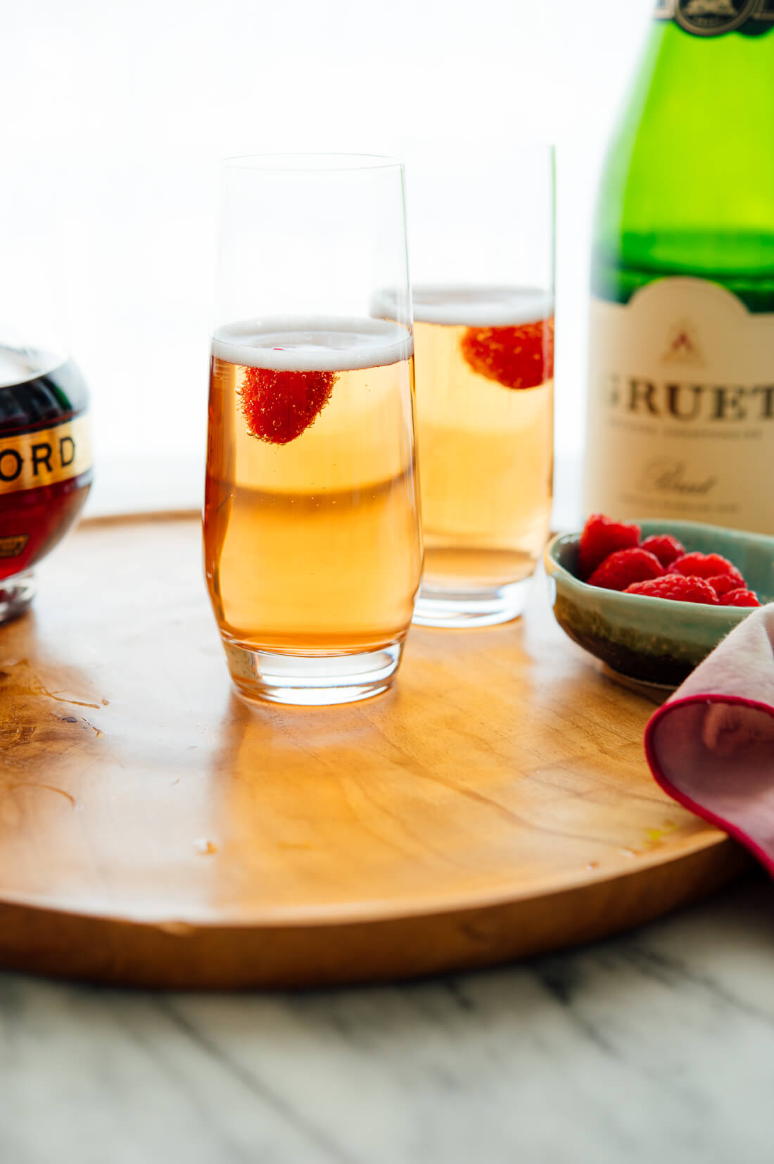 classic kir royale cocktail