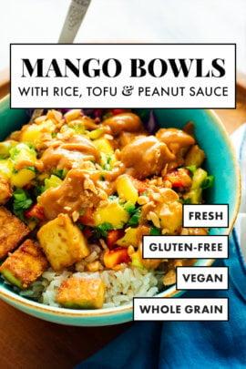 receta de tazones de mango y tofu