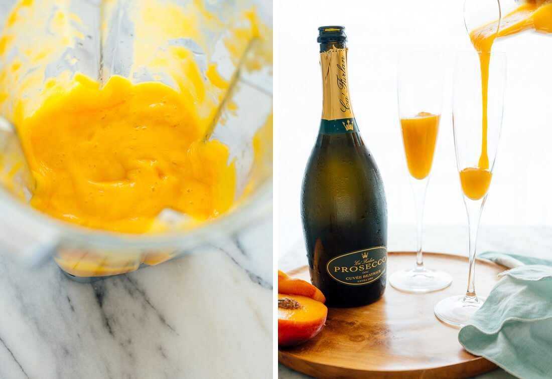 peach puree for bellinis