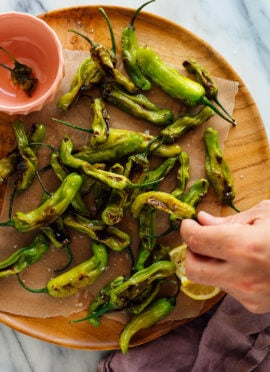 charred shishito peppers recipe