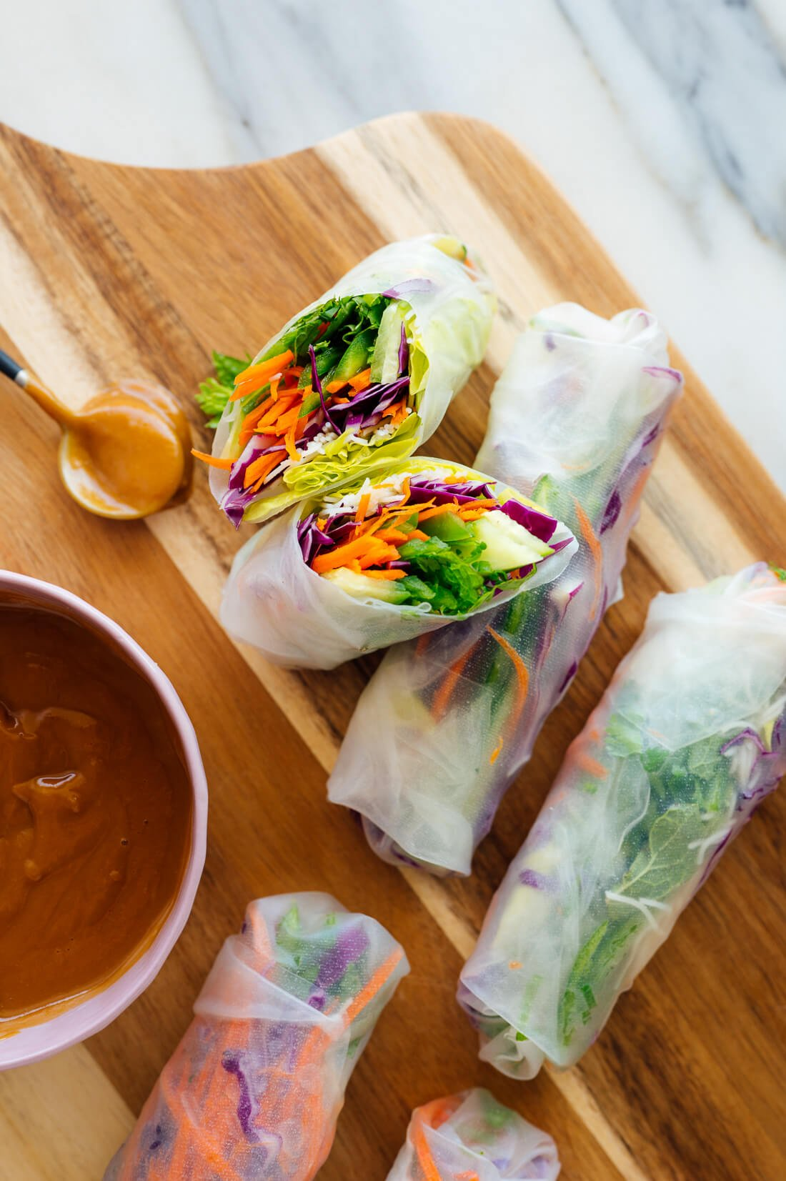 Fresh Spring Rolls With Peanut Sauce Cookie And Kate