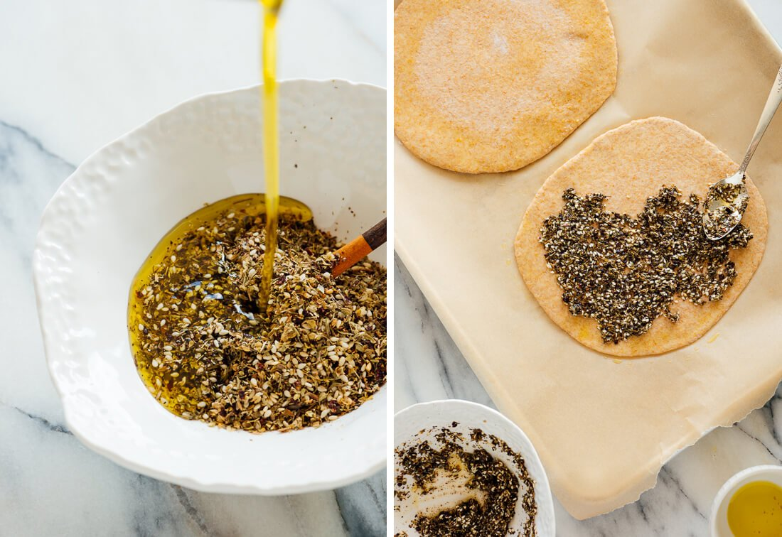 za'atar mixed with olive oil