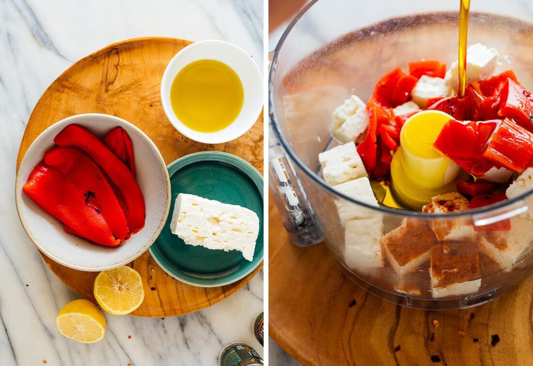 red pepper feta dip ingredients