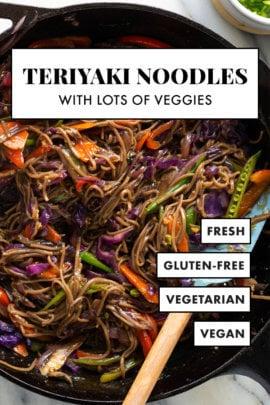vegetarian teriyaki noodles recipe