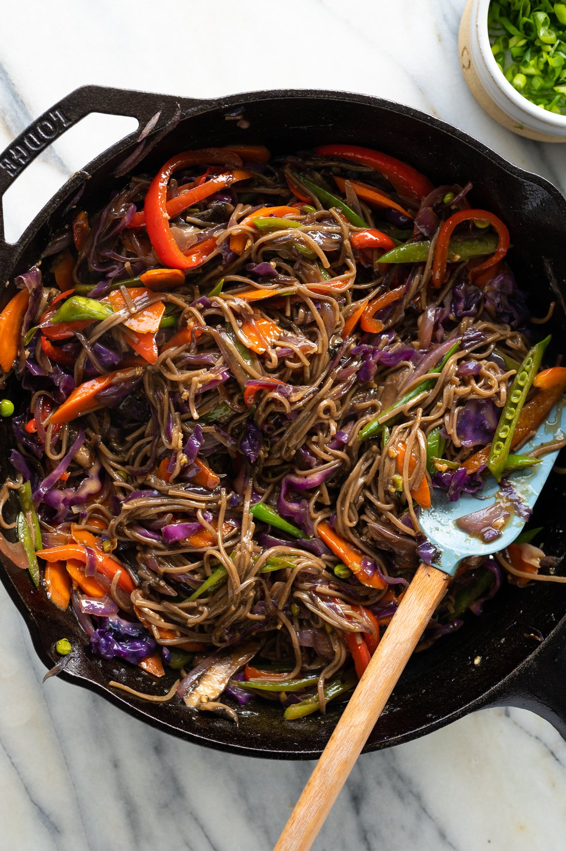 Veggie Teriyaki Stir-Fry with Noodles