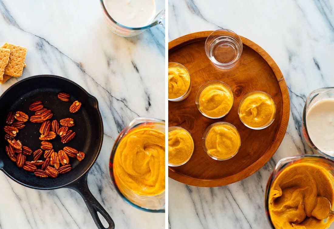 how to make pumpkin cheesecake cups