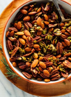 sweet and spicy party nuts recipe