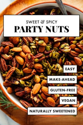 sweet and spicy party nuts
