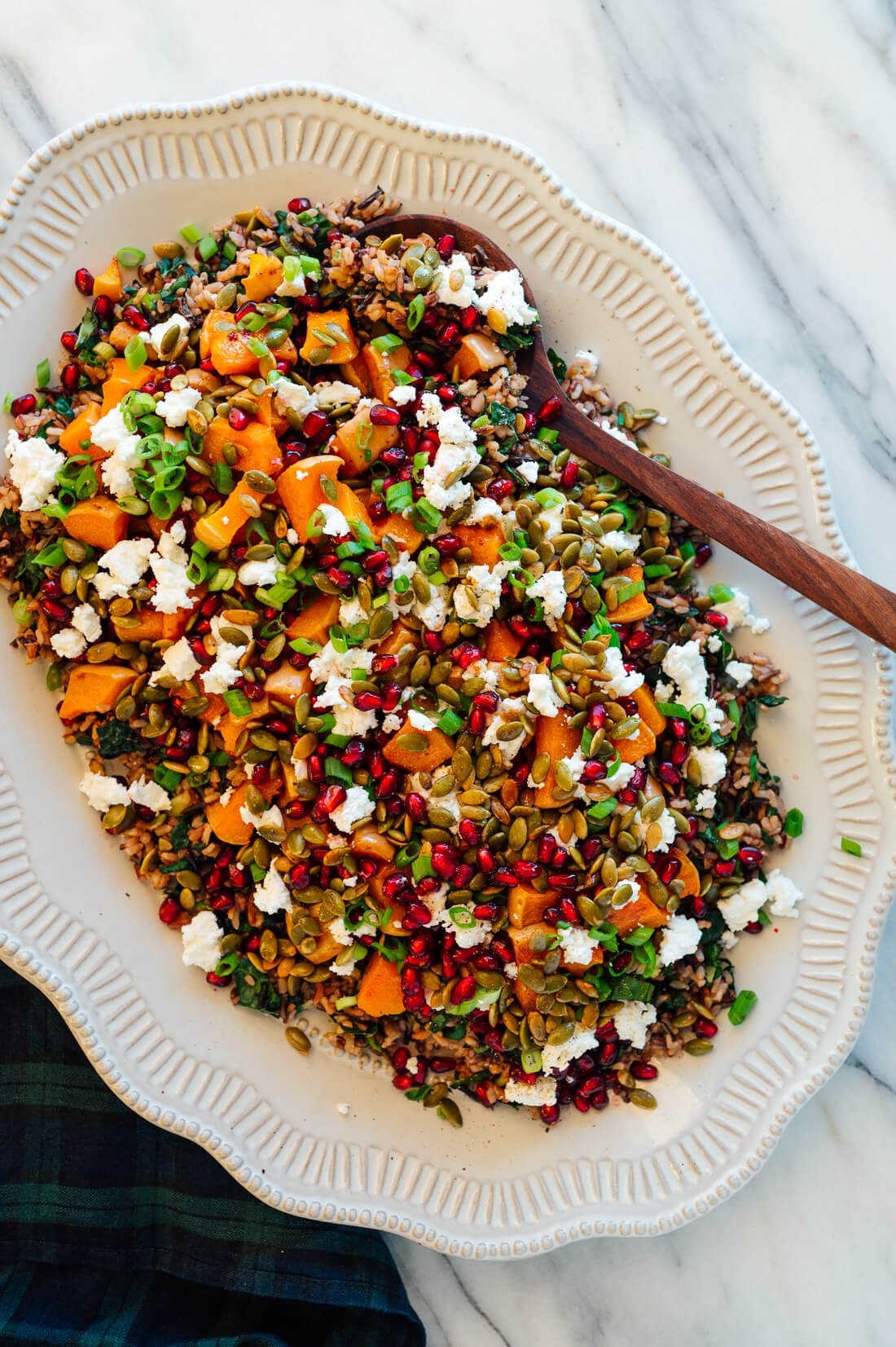 Roasted Butternut Squash, Pomegranate and Wild Rice ?Stuffing?