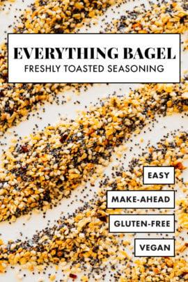 todo receta de mezcla de condimentos para bagel