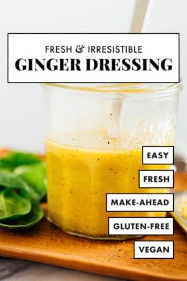 homemade ginger salad dressing