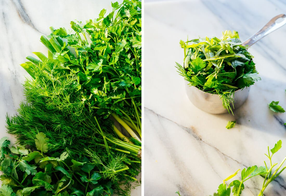 herbs for green goddess dressing