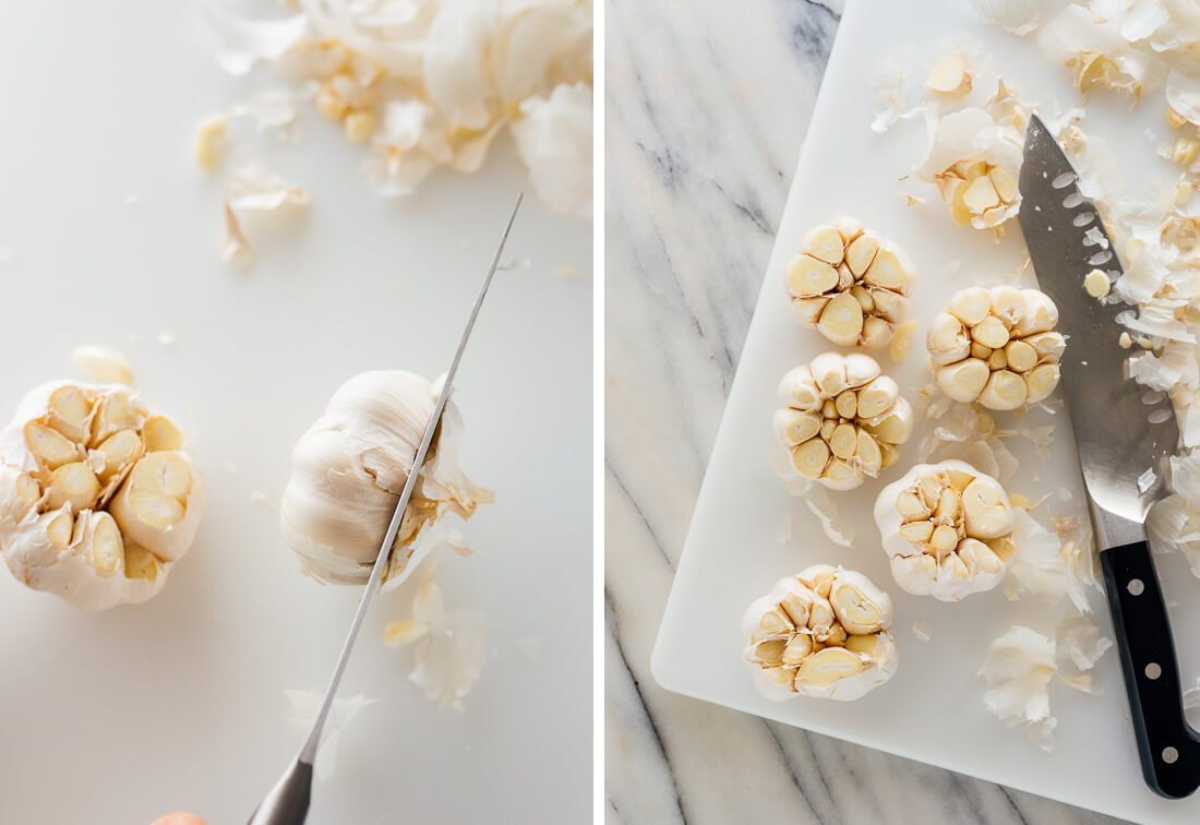 how to prepare garlic for roasting