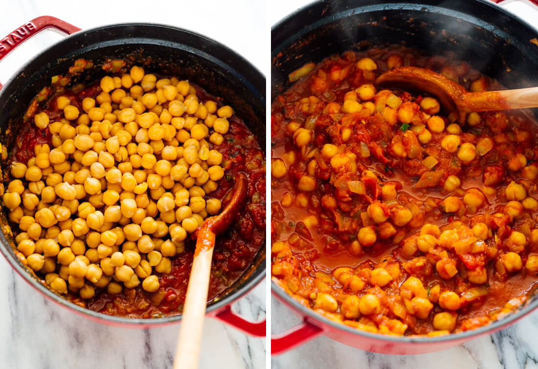 cooking chana masala