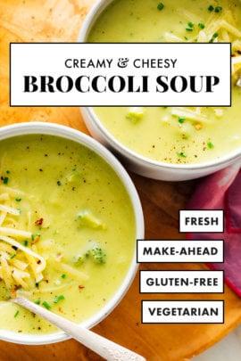 creamy cheesy broccoli soup recipe