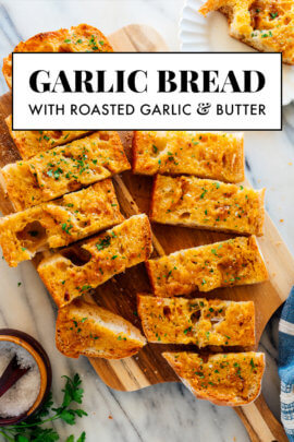 roasted garlic bread recipe
