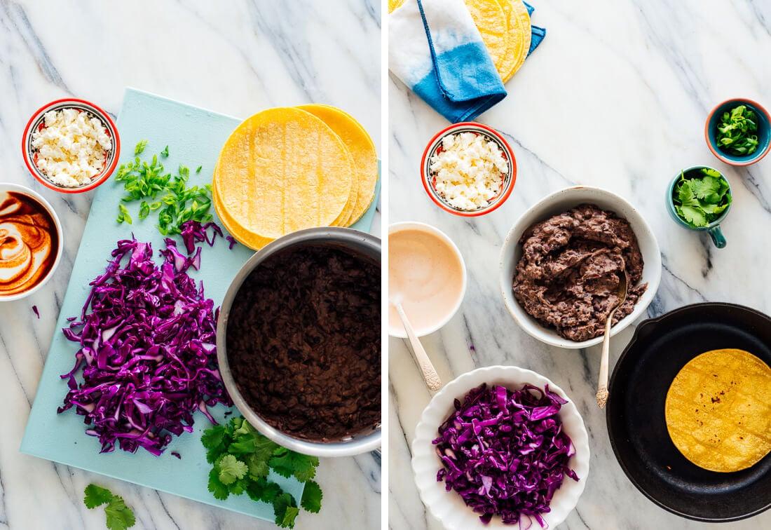 black bean taco ingredients