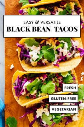 tacos de frijoles negros