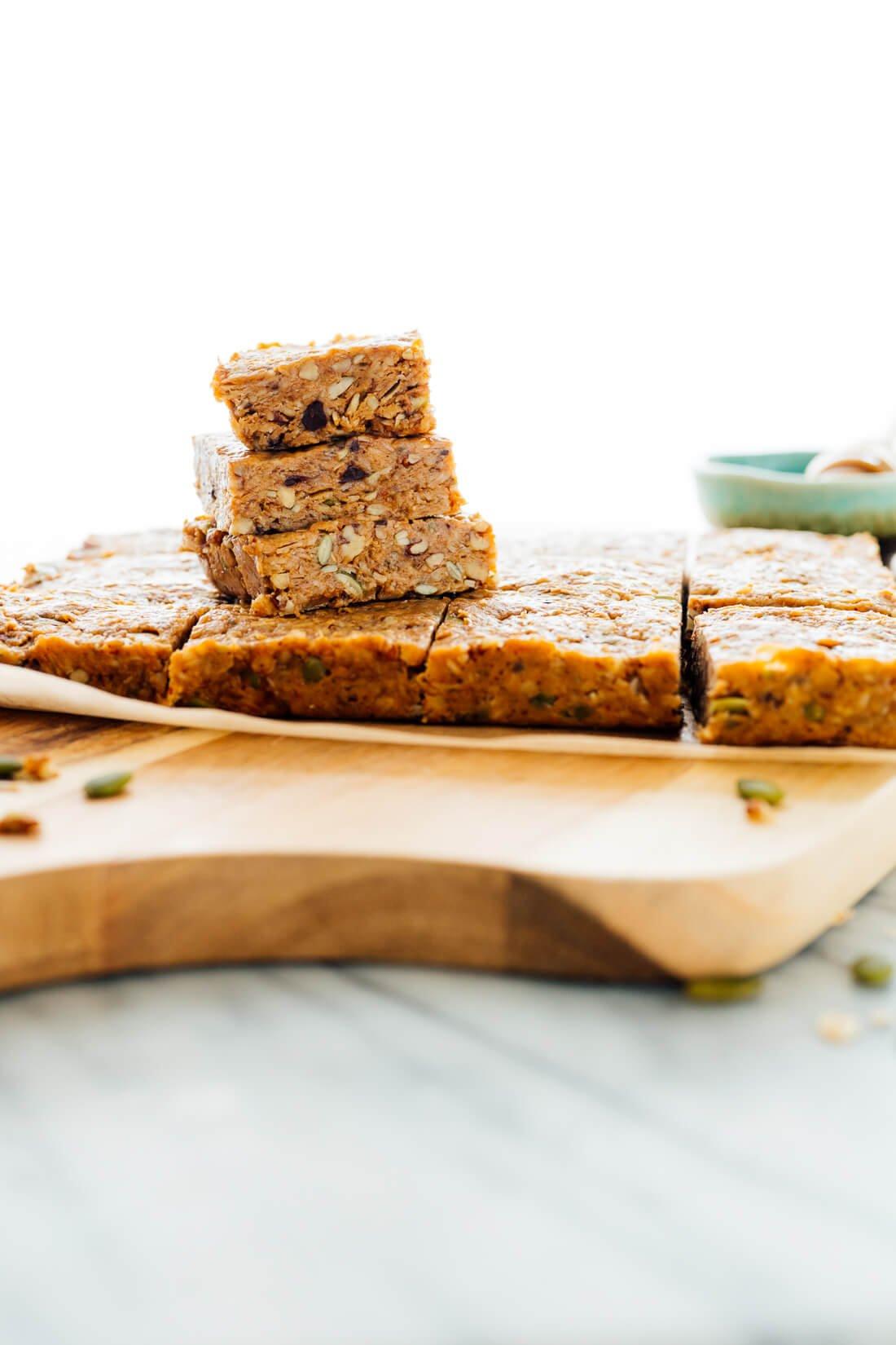 easy no-bake granola bars recipe