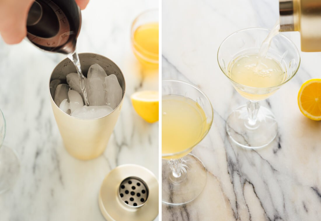how to make bee's knees cocktail