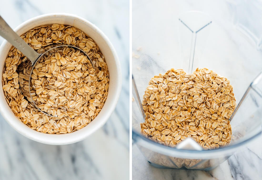 old-fashioned oats for oat flour