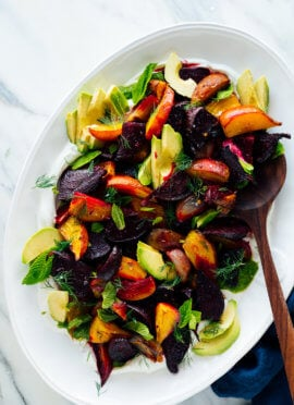 roasted beet salad recipe with herbs yogurt