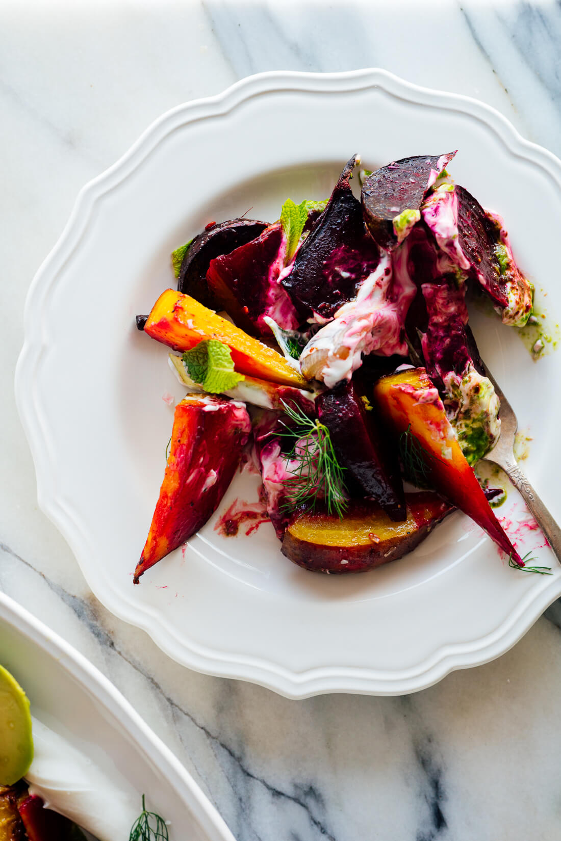 roasted beet salad with yogurt recipe