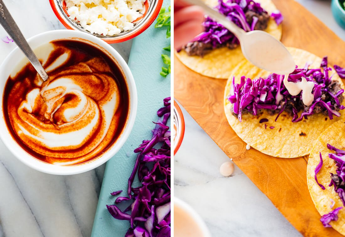 yogurt-based taco sauce