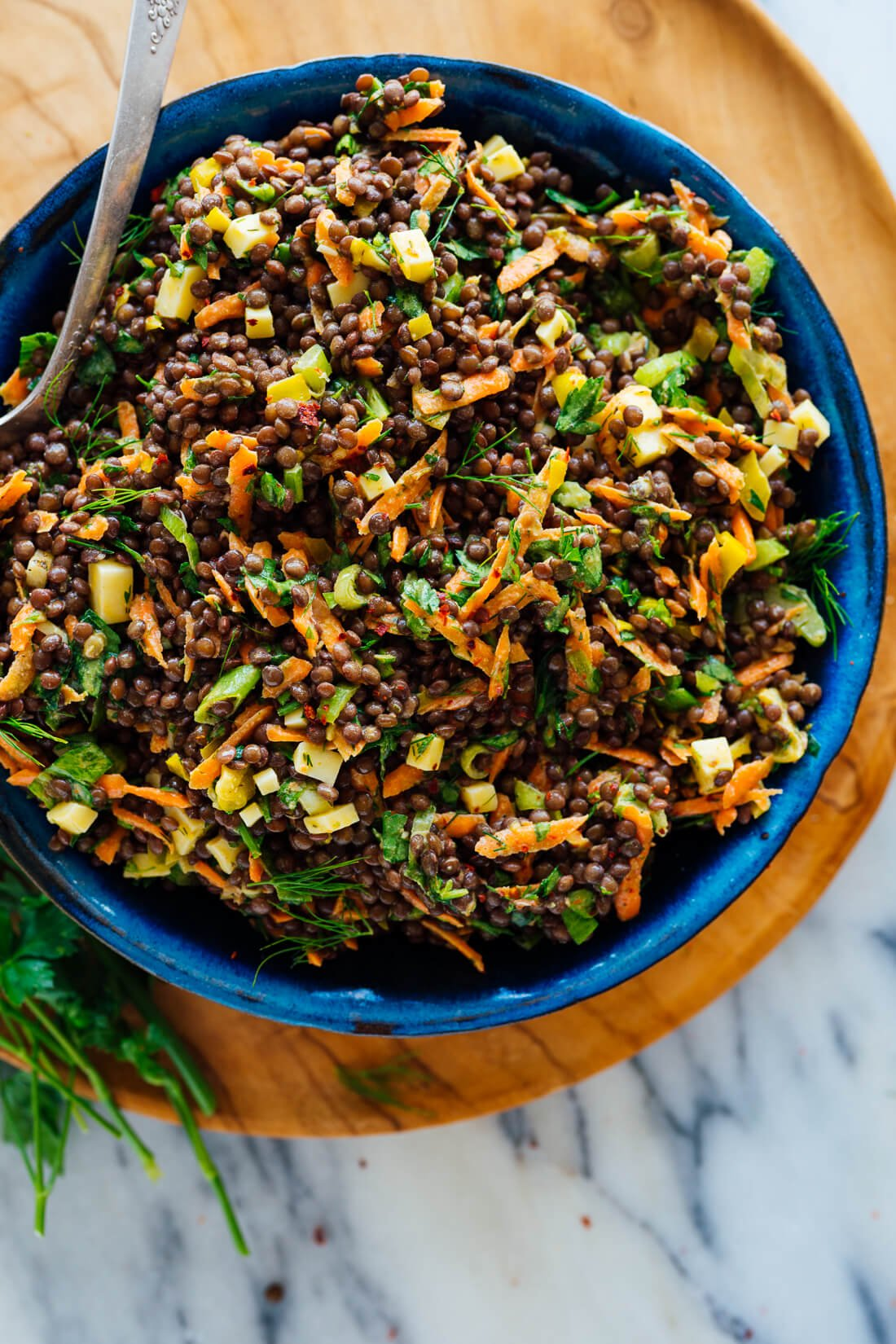 Tangy Lentil Salad With Dill Pepperoncini Cookie And Kate