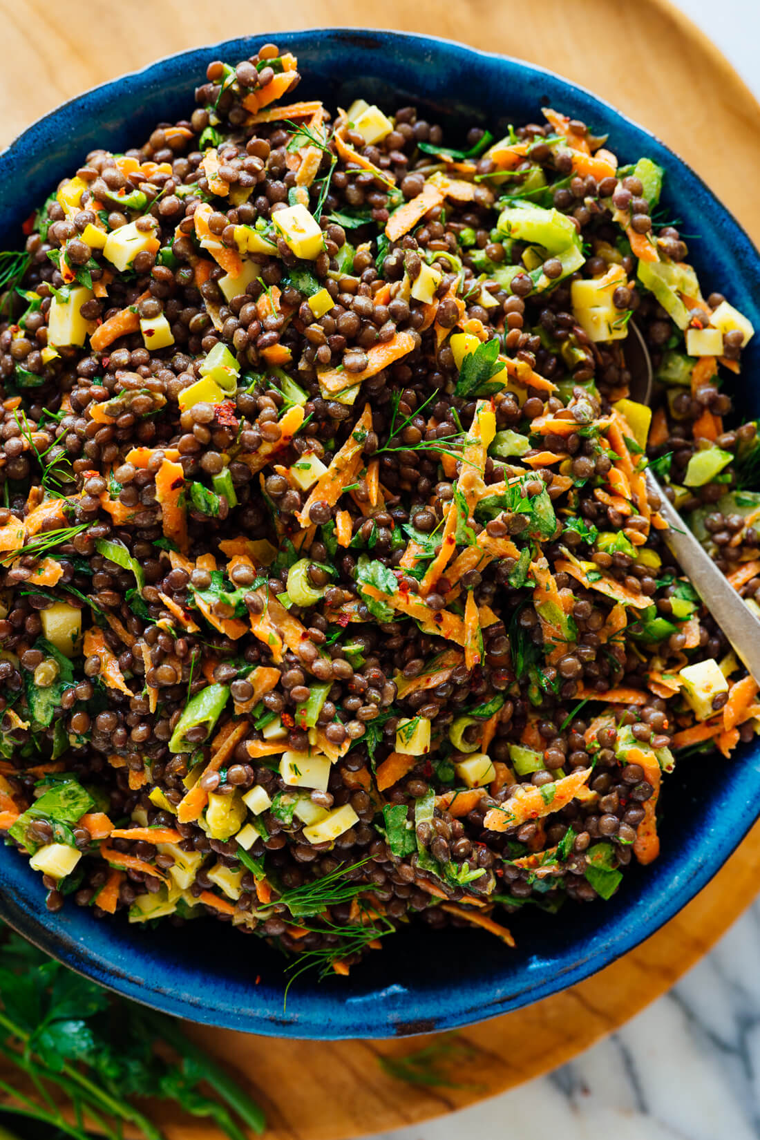 tangy lentil salad with dill recipe