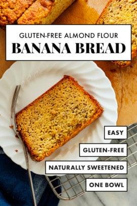 pan de plátano sin gluten
