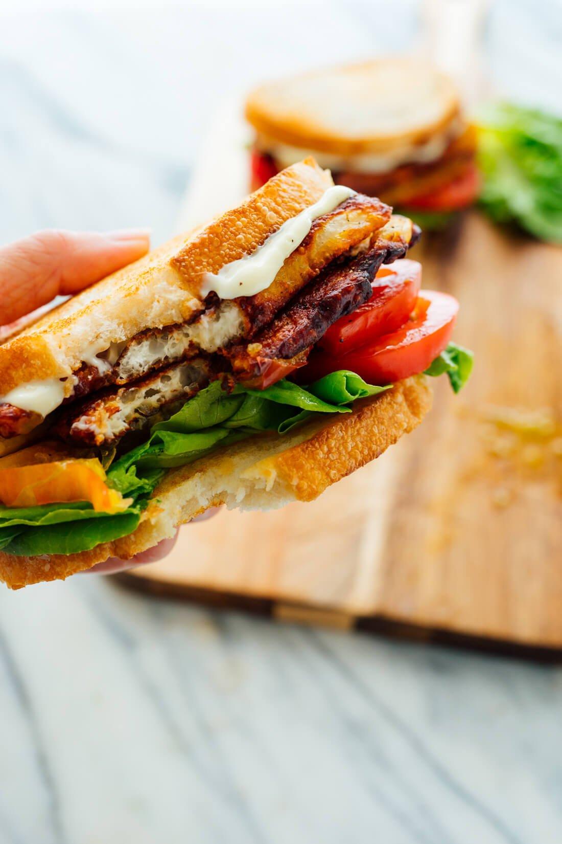 halloumi BLT sandwich recipe