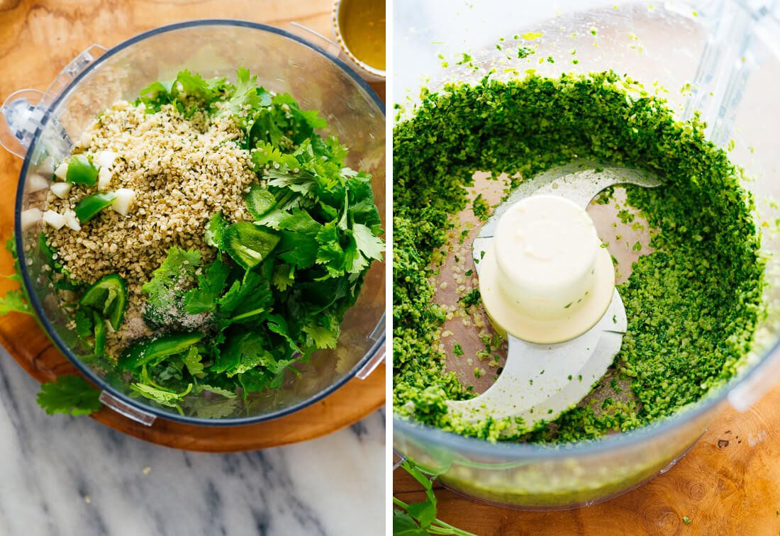 how to make cilantro hemp pesto