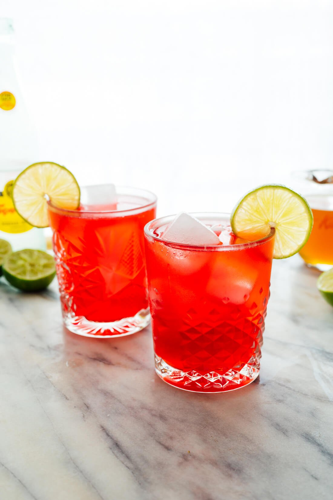 sparkling hibiscus mocktail recipe