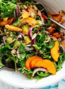 peach salad recipe with greens