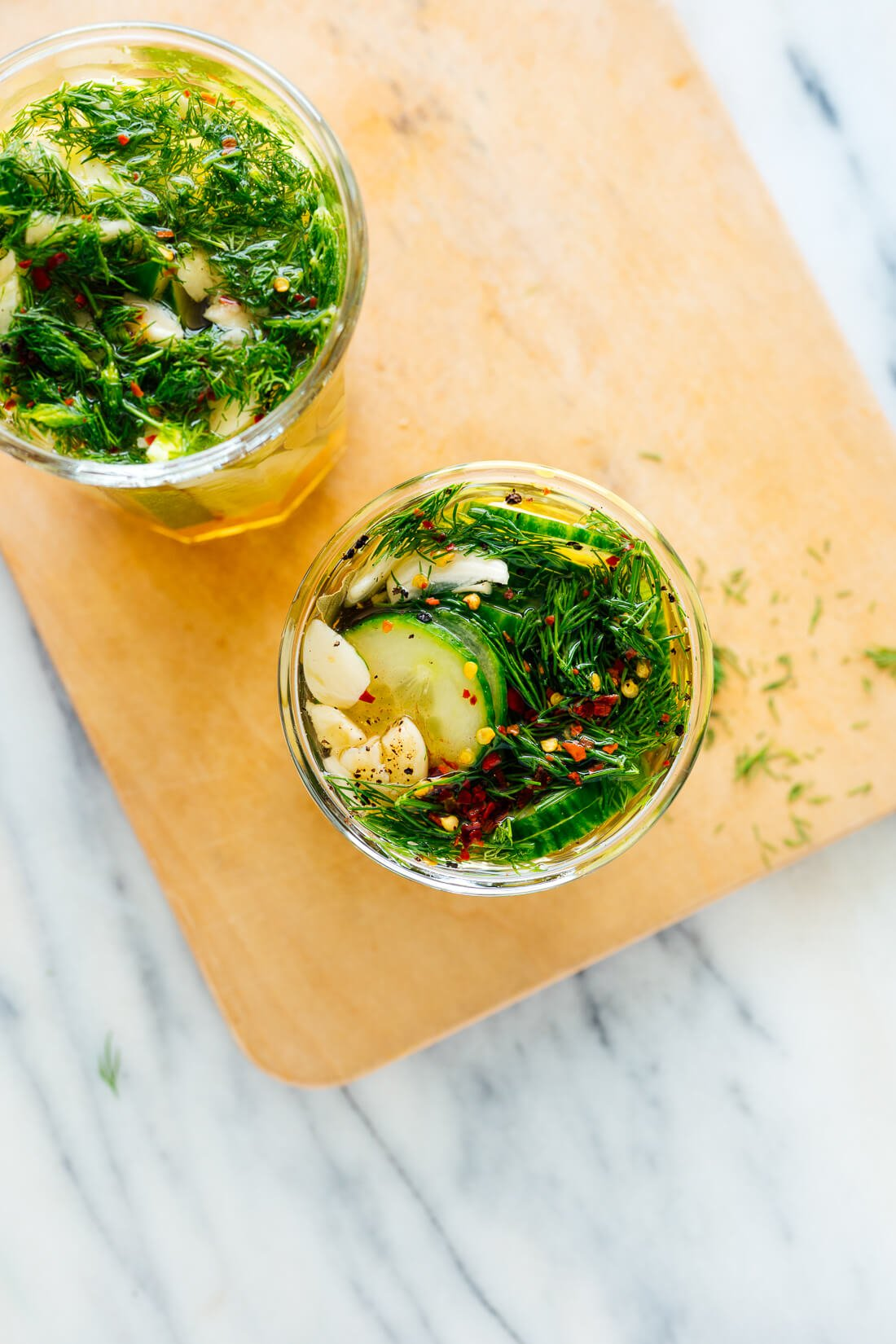 refrigerator pickles recipe (dill optional)