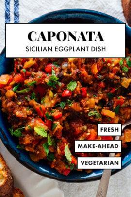 caponata (plato de berenjena siciliana)